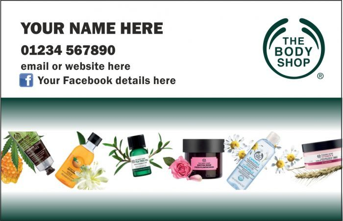 Body Shop At Home Business Cards Single Sided New Body Shop At Home The Body Shop Glitter Business Cards