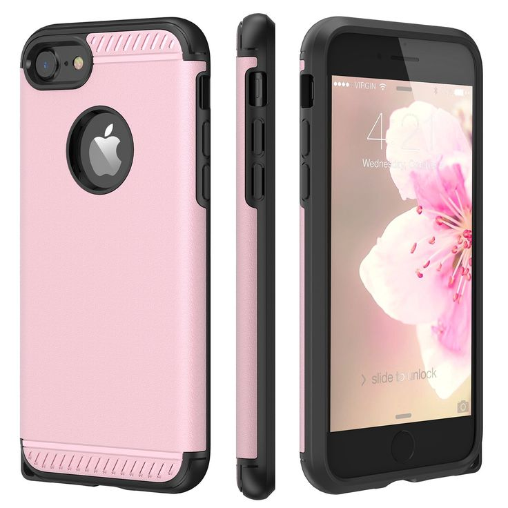 """iPhone 8 Case, iPhone 7 Case, CHTech Armor Shock Absorbing Dual Layer Case with Heavy Duty Drop Protection and Scratch Resistant Cover for Apple iPhone 7 / iPhone 8 - Rose Gold. Compatible with Apple 4.7"""" iPhone 7 2016 / iPhone 8 2017 release - Keep the original shape of your iPhone and Easy to put on or take off. (Not Fit 5.5"""" Version). SHOCK RESISTANT - Dual layers of shock absorption TPU with Air Space Design works better for absorbing shock,well protects your iPhone from sudden impact..."""