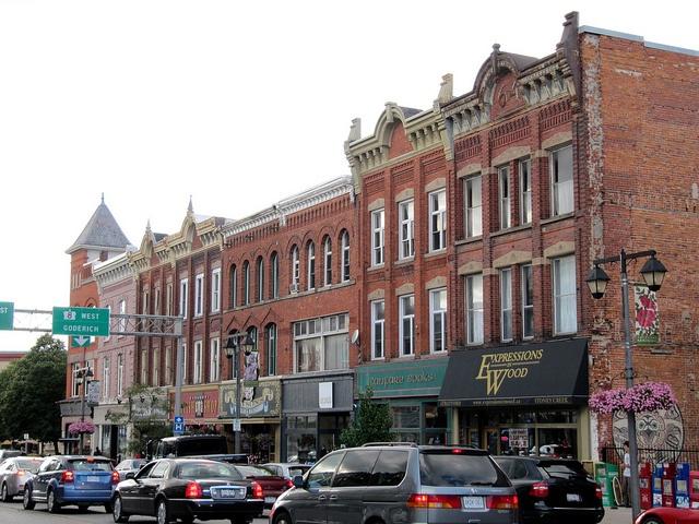 Splendid Historic Buildings, Ontario Street, Stratford, Ontario, Canada    Ontario Street is the main street in Stratford, Ontario, Canada.