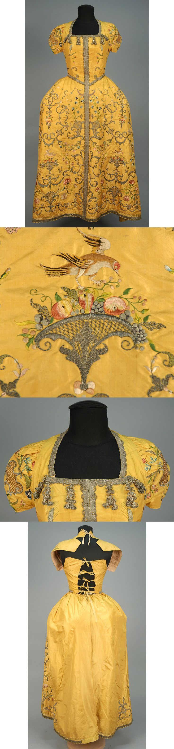 METALLIC EMBROIDERED SILK VESTMENT, PROBABLY FRENCH, c. 1725.