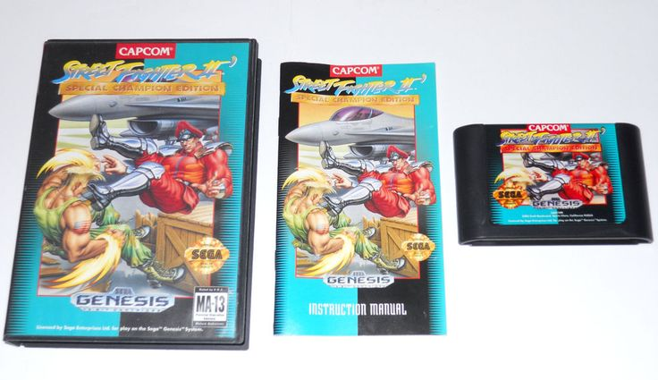 STREET FIGHTER II Special Champion Edition CIB Sega Genesis Game Free Shipping