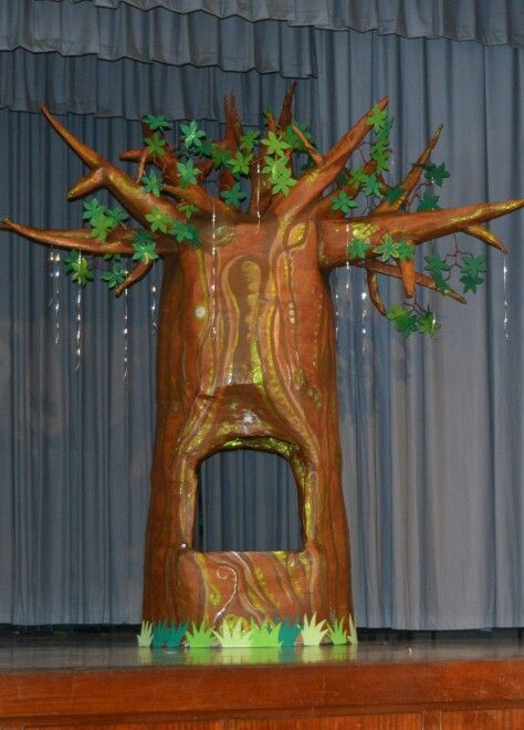 One step closer to completion! Paper mache tree!