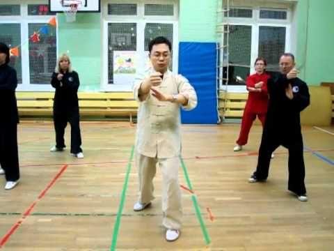 Ван Лин Тайцзи Ян 24 формы Удар кулаком - YouTube