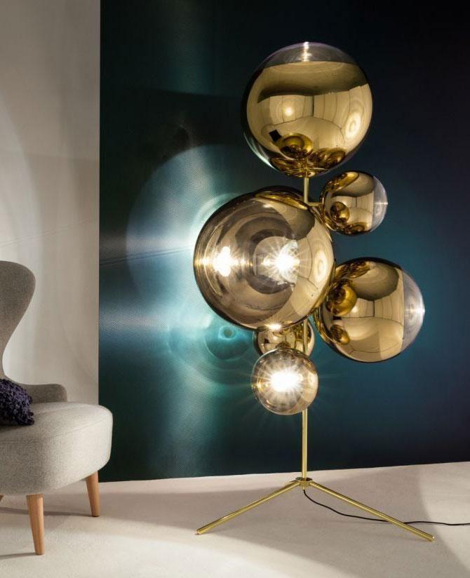Mirror Ball Chandelier Floor Lamp In 2020 Chandelier Floor Lamp Mirror Ball Floor Lamp
