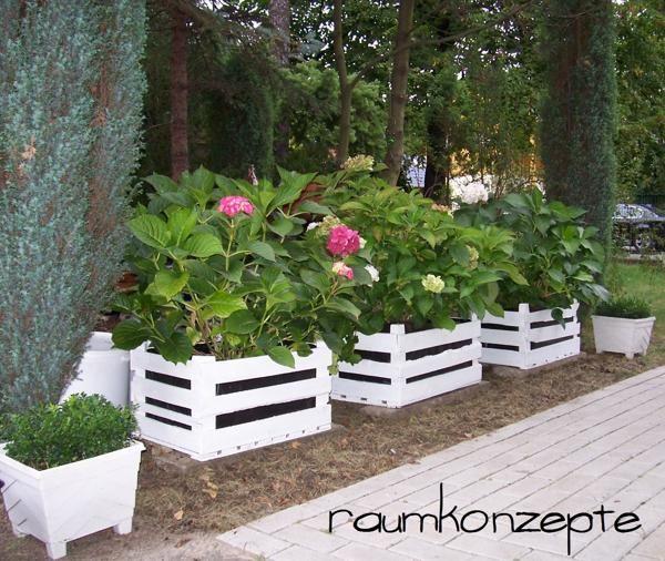 die idee individuelle pflanzk bel einfach mit wei er farbe streichen dann teichfolie passend. Black Bedroom Furniture Sets. Home Design Ideas