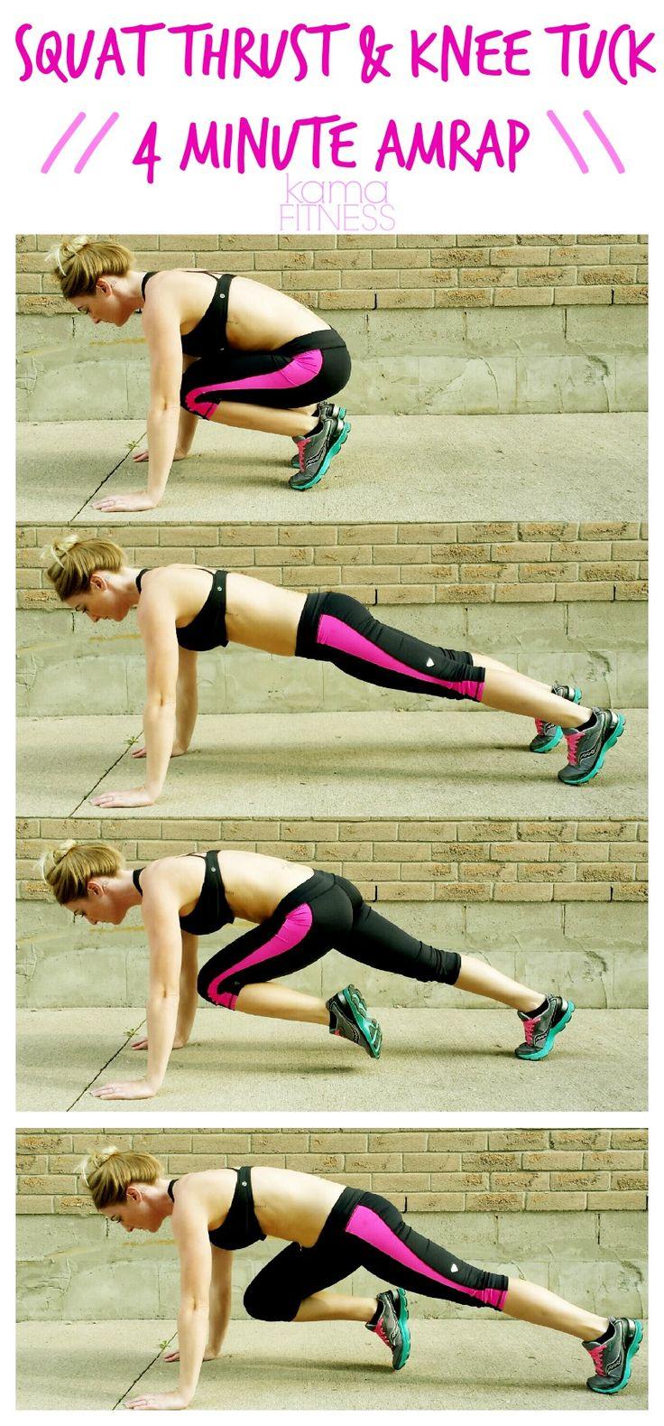 squat-thrust-knee-tuck-4-minute-amrap-workout-kama-fitness