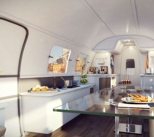 Airstream interior | #airstream #glamping @GLAMPTROTTER