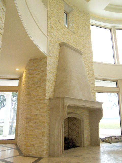 norstone Ivory Quartz Fireplace