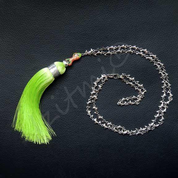 Collier sautoir Assilah vert anis http://izitmi.com/37-sautoirs
