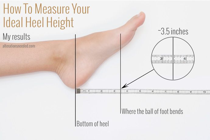 What if there were a magic number you could measure that would tell you exactly what high heel height would beyour most comfortable to...