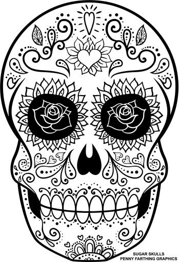 Sugar Skull Coloring Page Coloring Pages Skull