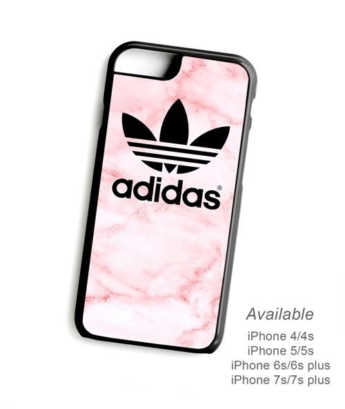 New Best iPhone Case Adidas Pink Marble Stripe Print On Hard Plastic Cover #UnbrandedGeneric