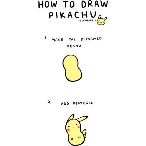 Pikachu cute drawing tutorial cute random things for Random cute drawings