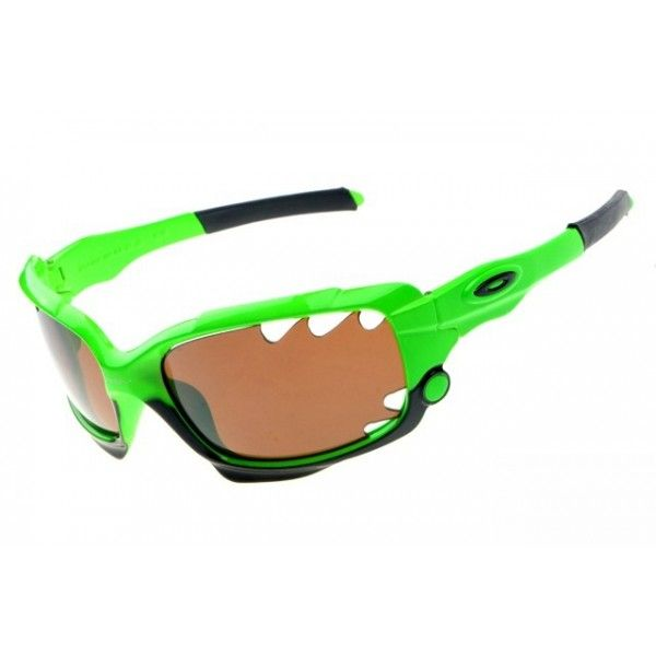 oakley racing jacket sunglasses for sale  fake oakley racing jacket sunglasses green / persimmon iridium for sale