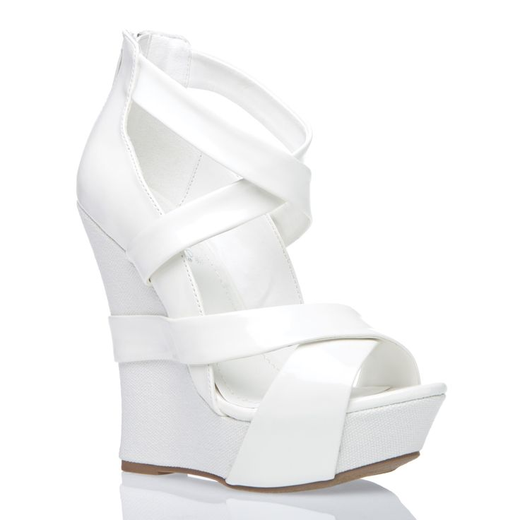 Loving the stark white wedges soooooo much!