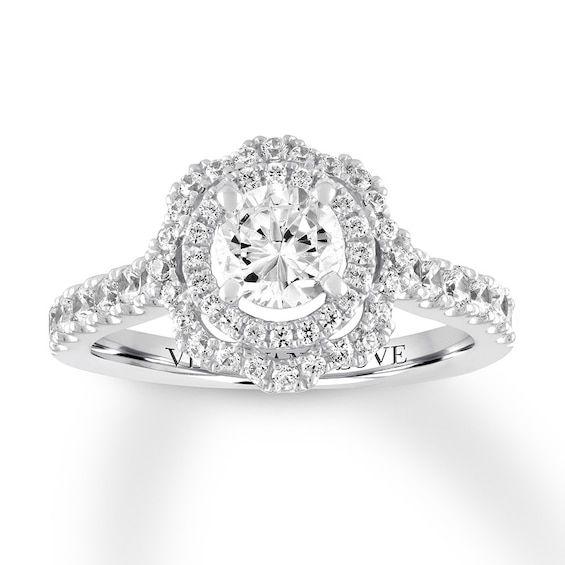Vera Wang Love Diamond Ring 1 1 4 Carats Tw 14k White Gold In 2020
