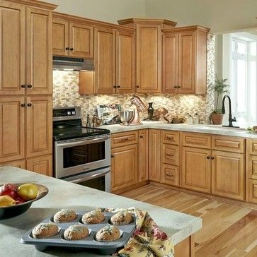 Glazed Cabinets Toffee Caramel Design Ideas, Pictures, Remodel And Decor