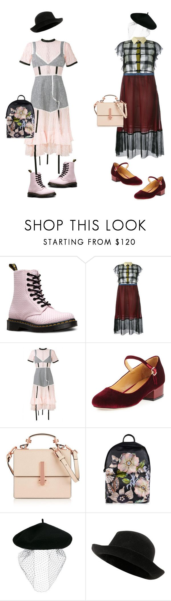 """""""Дело в шляпе"""" by repriza ❤ liked on Polyvore featuring Dr. Martens, Marco de Vincenzo, Sandy Liang, Cecelia New York, Kendall + Kylie, Ted Baker, Silver Spoon Attire and Chanel"""