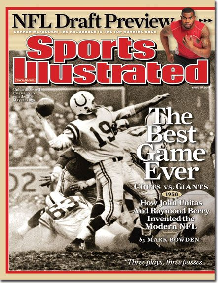 Sports Illustrated - Best game Ever - Colts vs Giants - April 28, 2008   Volume 108, Issue 17