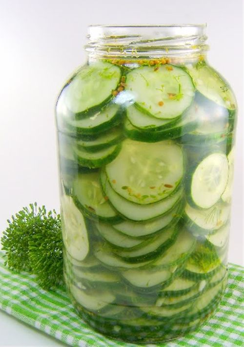 Can't wait to make these, and bread & butter pickles, with our fresh cukes from our first garden this year!!!!!  Hurry up & grow!