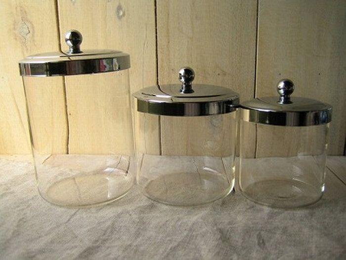 ガラス ガラスジャー ガラス キャニスター 瓶 ビン 保存容器。グラスジャー Sサイズ ガラス ガラスジャー ガラス キャニスター 瓶 ビン 保存容器 キッチン用品 保存瓶 ガラス保存容器 アンティーク 調味料容器 おしゃれ キッチン 台所
