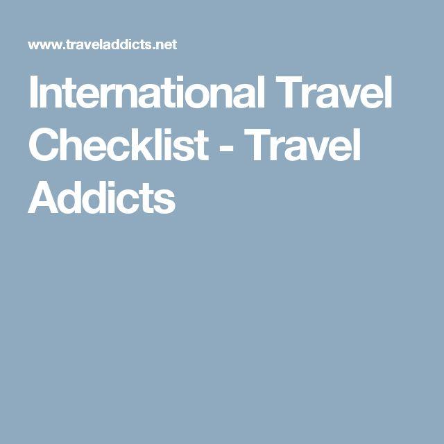 International Travel Checklist - Travel Addicts