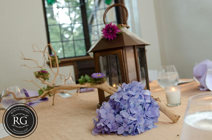 flowers and branches table set up at Cloisters Castle in Baltimore #cloisterscastle