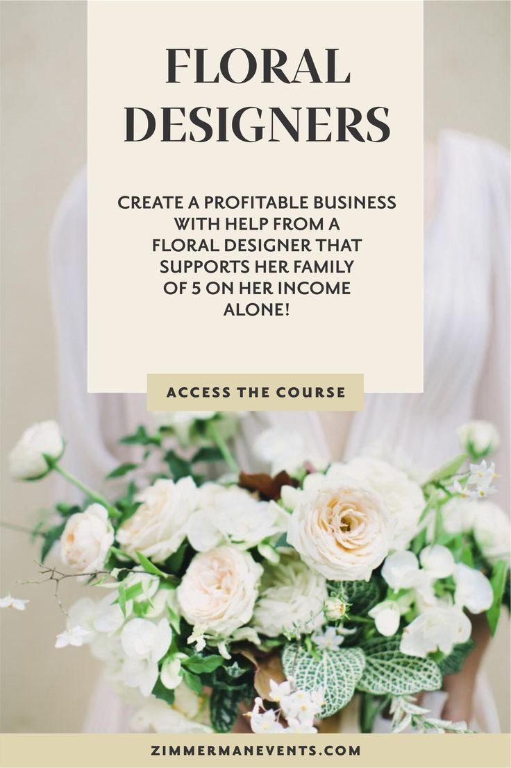 The Business Behind The Blooms A Course For Wedding Floral Designers Teaching You The Business Side Of Runnin Wedding Planning Business Wedding Business Ideas