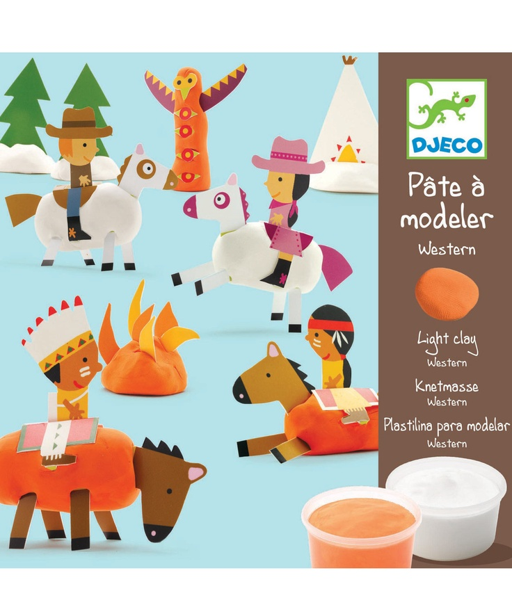 Djeco  Light Clay Western Modelling Kit