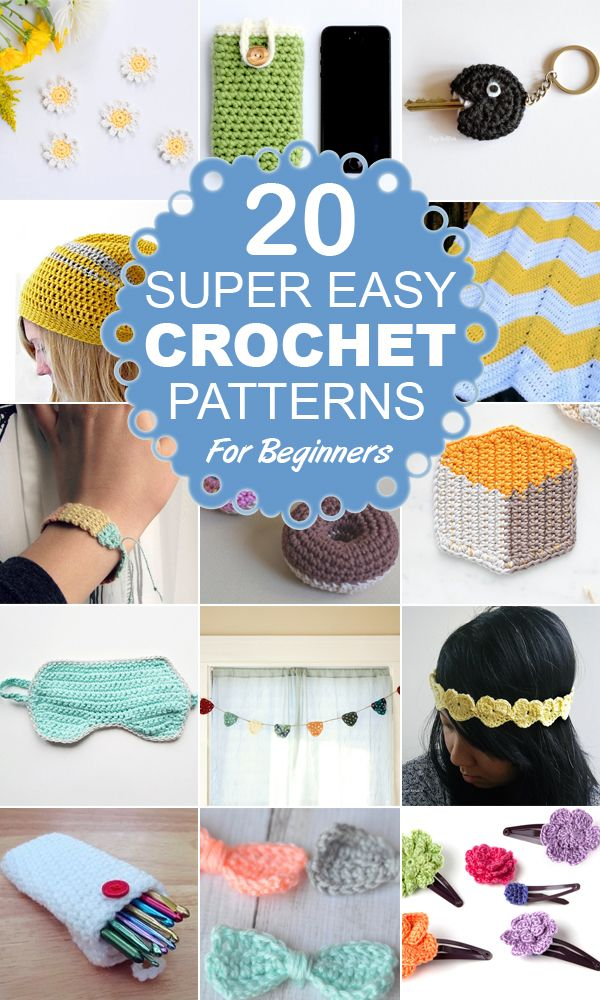 30 Super Easy Knitting and Crochet Patterns for Beginners ... |Easy Crochet Craft Projects