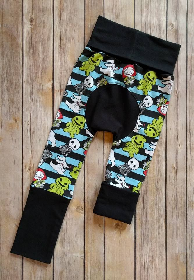Nightmare before Christmas Maxaloones Maxaloones are the ultimate cloth diaper pants! They have an extra panel in the back to accommodate for extra fluff and look adorable. These specific pants are designed to fit approx. Size 6 months- 3 years with the adjustable waist and leg bands. Simply roll them up or down for a customizable fit.