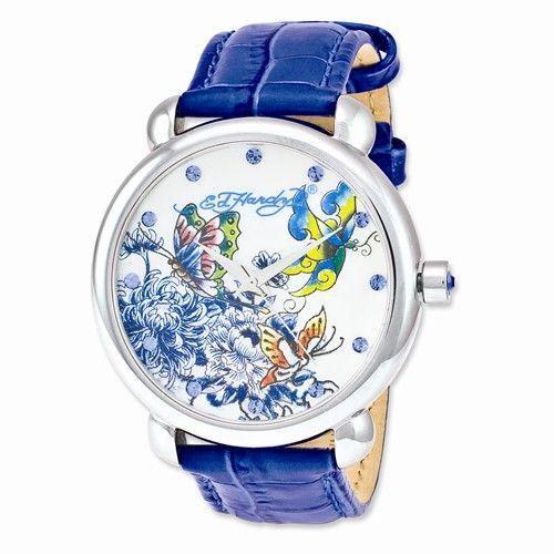 Ed Hardy Garden Blue Ladies' Watch