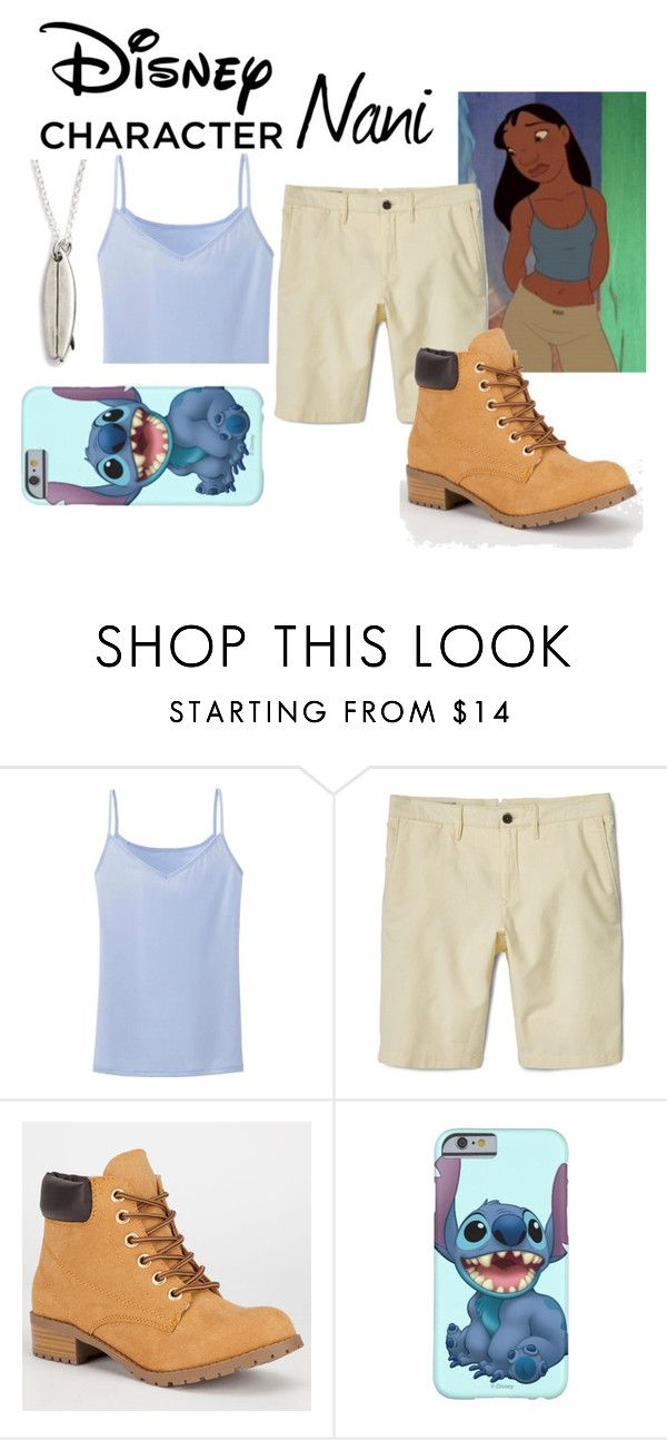 """""""Disney Character Costume: Nani"""" by chinesedragon88 ❤ liked on Polyvore featuring Disney, Uniqlo, MANGO, Soda, Dogeared, Halloween, contestentry, 60secondstyle and disneycharactercostume"""