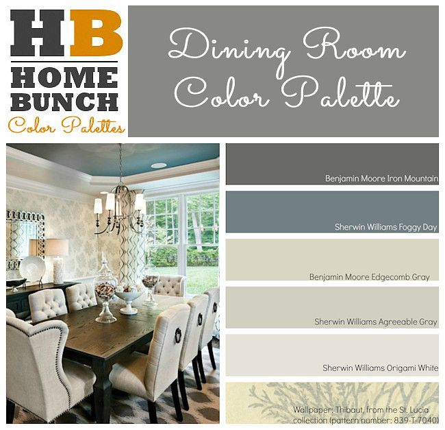 Dining Room Color Palette Benjamin Moore Iron Mountain