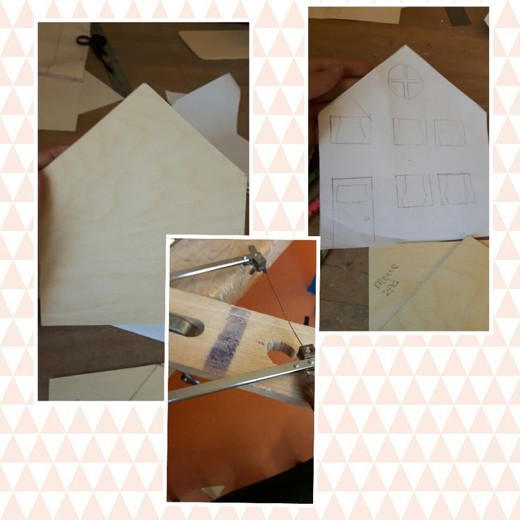 Les 2. Vandaag het ik de punt van het dak uitgezaagd daarna heb ik ideeën bedacht over de ramen en de deur maar dat heb uitgegumd omdat iemand het idee had gegeven om i.p.v. een rechter- en linkerkant te doen een voor- en achterkant met begroeid en volgebouwd. Ik heb ook de afmetingen van het balkon vastgesteld. De volgende les ga ik de uitzaaglijntjes van het balkon tekenen en de muren uitzagen.