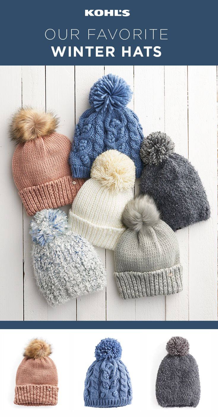 It's going to get cold. That means it's time to get a great winter hat that will keep you warm and stylish all season long. (And they make great gifts, too!) Shop winter hats and cold-weather gear at Kohl's. #winter #shopping