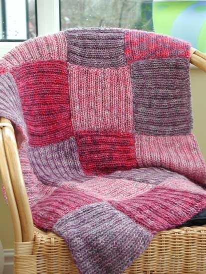 Afghan blanket in patchwork squares - Kit 4 - -  pure Aran wool, patterns, dyes etc, supplied by DT Craft & Design