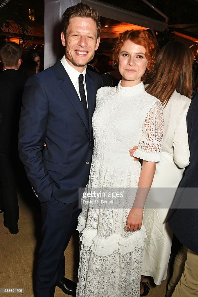 James Norton (L) and Jessie Buckley attend the Glamour Women Of The Year Awards after party in Berkeley Square Gardens on June 7, 2016 in London, United Kingdom.