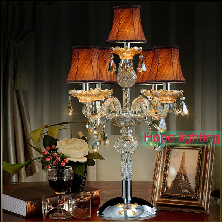 contemporary table lamps with fabric lampshade crystal Table Lamp wedding decoration centerpieces crystal desk lamps bedroom #Affiliate