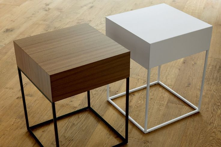 These are cute and compact bedside drawers from Porada. Available in a number of finishes