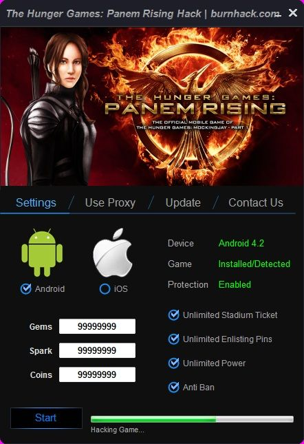 The Hunger Games: Lord of the Rising Hack Android/iOS  http://burnhack.com/hunger-games-lord-rising-hack-androidios/