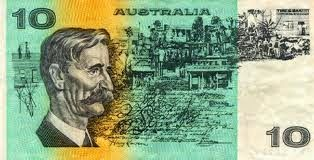 Henry Lawson (Australian poet) depicted on the first ten dollar note issued in Australia when decimal currency was first introduced in 1966.