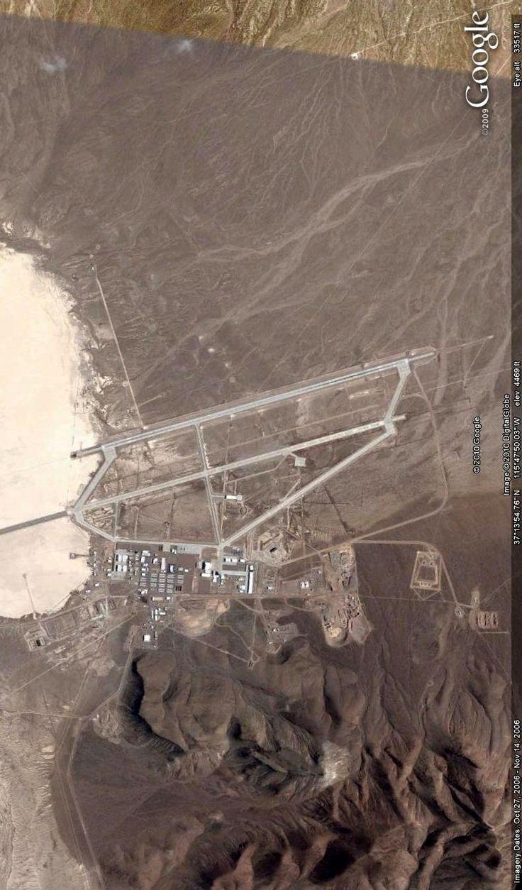 Area 51, Nevada. Image from Google Earth.