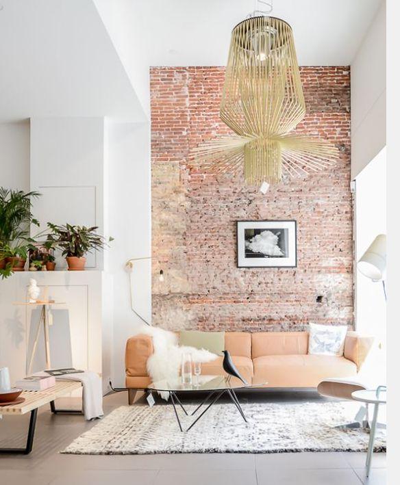 Le mur en briques est toujours une tendance dans la d co for Decoration interieure contemporaine tendance conseils