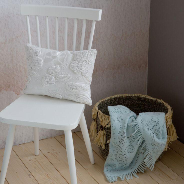 BLAUWE DEKEN MET OPENGEWERKT MOTIEF - Dekens - Bed   Zara Home Netherlands