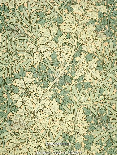 Foliage wallpaper, by William Morris. England, 19th century