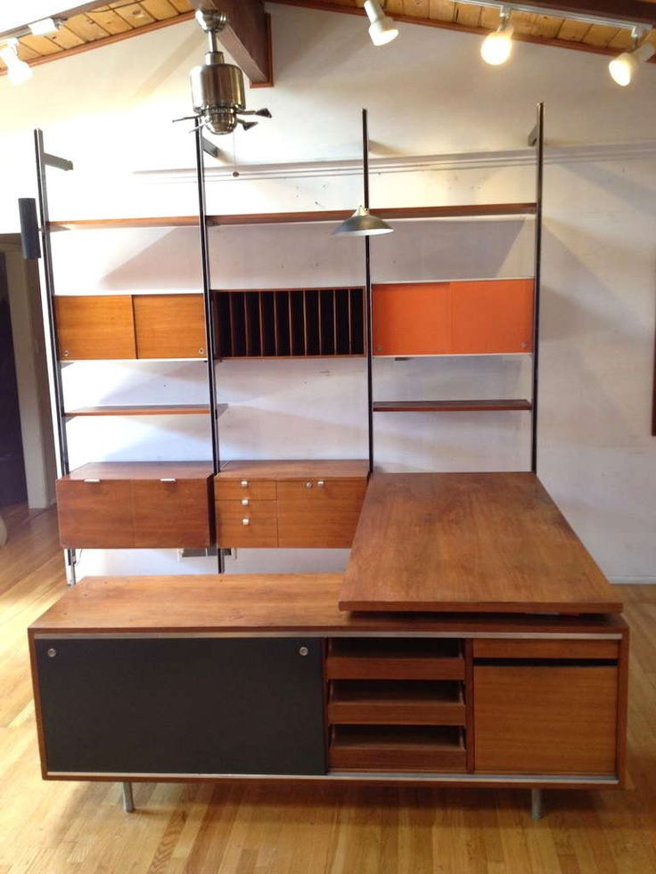 Exceptional George Nelson CSS Wall Unit with Desk and Credenza by Herman Miller image 3