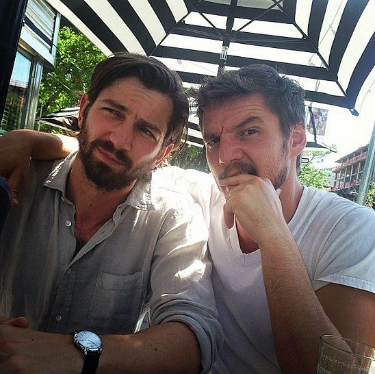 Oh, just a bit of Game of Thrones eye candy... Actor Pedro Pascal shared a hilarious (and handsome) picture with his sexy costar Michiel Huisman. See more photos of the GoT cast hanging out in real life!