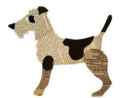 airedale terrier paste collage by Denise Fiedler #Airedales