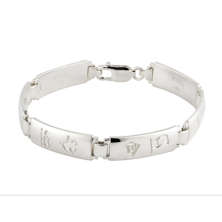 History of Ireland Link Bracelet
